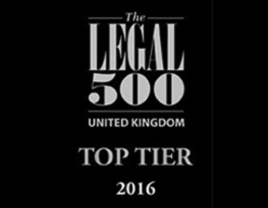 Beswicks Legal dispute resolution team recognised as a Top Tier firm in the 2016 Legal 500 Guide to Law Firms