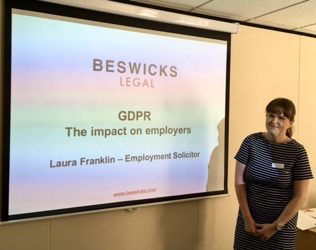 Beswicks' employment lawyer guides business leaders through GDPR minefield