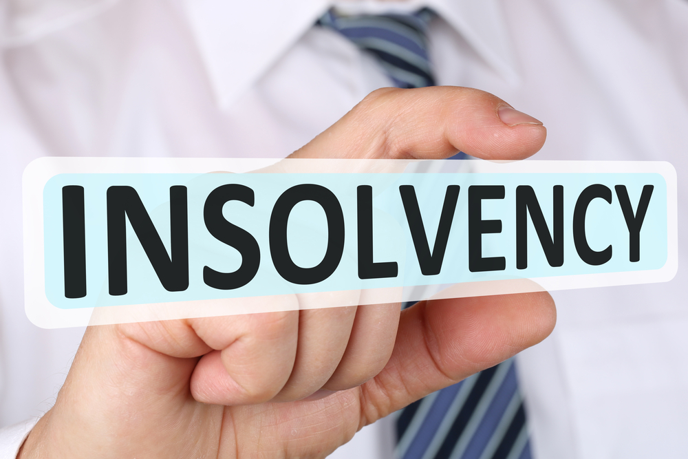 Insolvency at seven year high