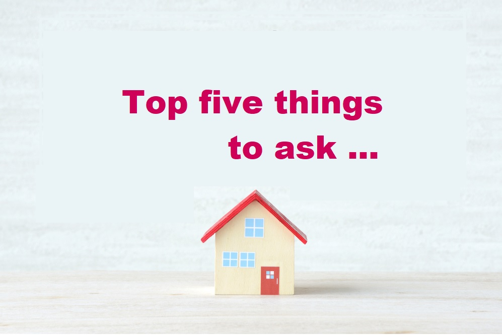 Top five things to ask when choosing a solicitor for your house move