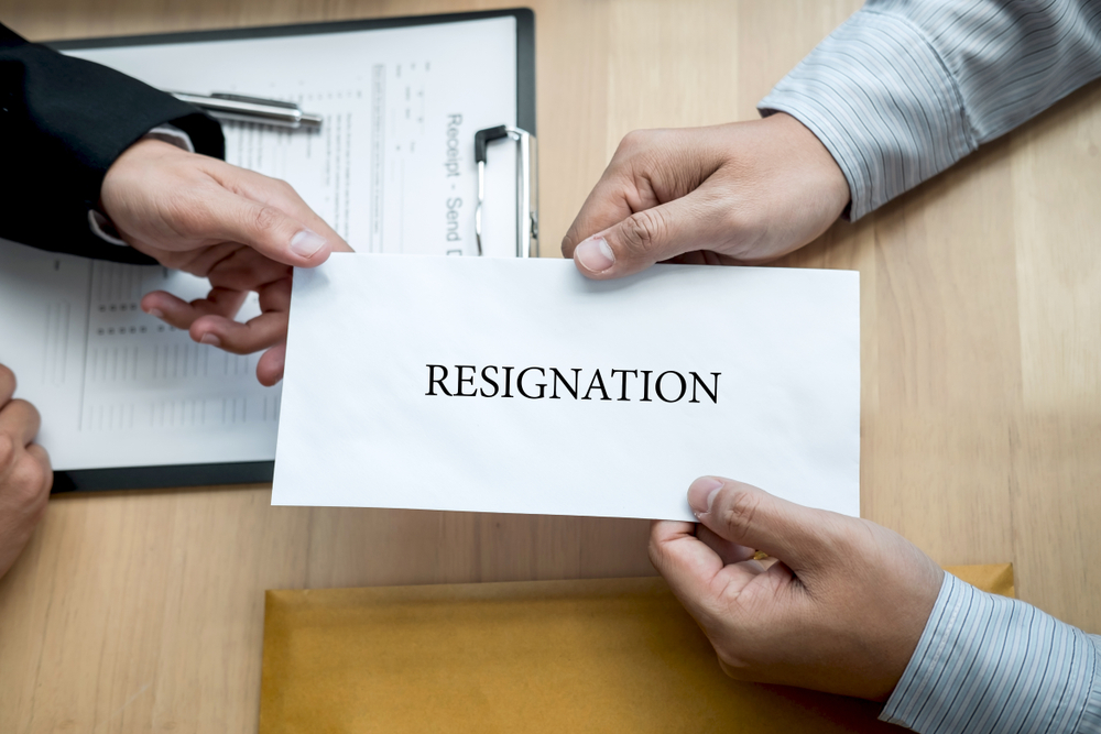 What should employers do if employee resigns during disciplinary  proceedings?